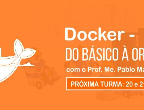 Curso de Docker em outubro com poucas vagas
